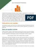Índices e Indicadores Financeiros - Investimentos