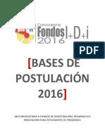 Bases I+D+i 2016
