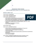 Programa Curso Gessur 2016