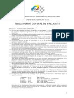 Reglamento de Rally 2016