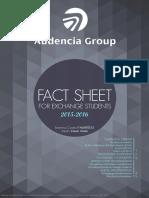 Audencia Fact Sheet 2015 2016