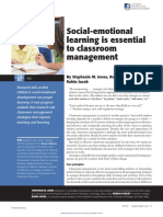 Phi Delta Kappan - 2014 - Jones - 19-24 - Social-emotional Learning is Essential to Classroom Management