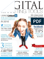 Digital Marketing Tools Mar 2016