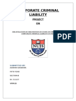 Corporate Criminal Liability Project