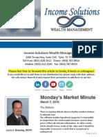 Monday's Market Minute - 03-21-16