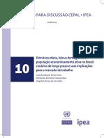 Estrutura etária, bônus demográfico e população economicamente ativa no Brasil