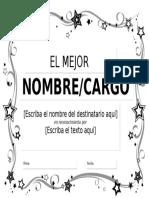 Diploma Al Amejor en Color