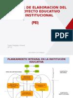 TALLER DE ELABORACION DEL PROYECTO EDUCATIVO INSTITUCIONAL