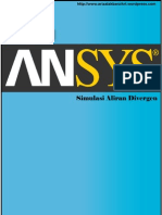 Aliran Divergen Using ANSYS 12