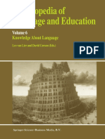 (Encyclopedia of Language and Education 6) Arthur Van Essen (Auth.), Leo Van Lier, David Corson (Eds.)-Encyclopedia of Language and Education_ Knowledge About Language-Springer Netherlands (1997)