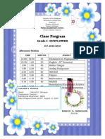Class Program 2015 Shifting