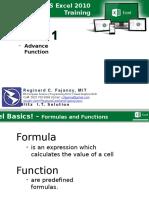 Module 1 - Ms Excel 2010 Training