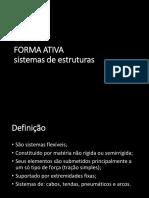 Forma Ativa, Vetor Ativo, Superfície Ativa e Seção Ativa