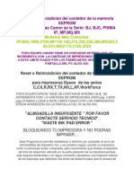 Reset o Reinicialición Del Contador de La Memoria EEPROM