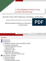 Impulse Radio Ultra-Wideband Antenna Array Correlation BeamformingImpulse Radio Ultra-Wideband Antenna Array Correlation Beamforming