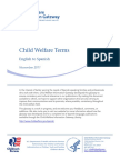 Child Welfare Terms English Spanish