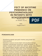 The Effect of Nicotine Dependence on Psychopathology