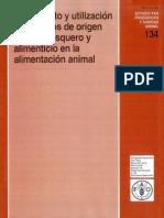 Tratamienyo y Utilizacion de Residuos de Origen Animal, Pesquero y Alimenticio en La Alimentacion Animal