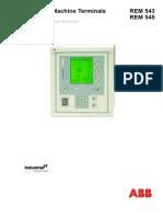 Relay 543 - 545 Manual