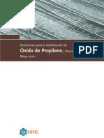directrices para la distribución de oxido de propileno
