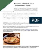 Italie cherche à être reconnu de l'UNESCO pour la préparation de la pizza napolitaine   Reuters