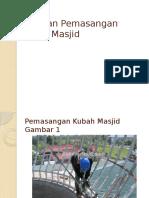 Cara Kontraktor Pembuat Kubah Masjid Memasang Kubah