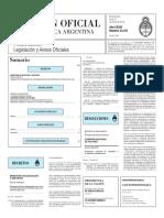 Boletín Oficial de la República Argentina, Número 33.341. 21 de marzo de 2016