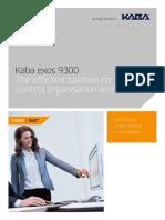 Kaba Exos 9300 Brochure