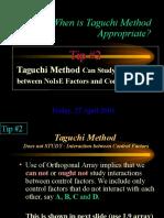 Why Taguchi Method Tip 2