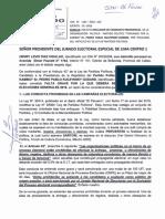 Solicitud de exclusión de candidatura presidencial de Pedro Pablo Kuczysnki por supuesta entrega de dádivas