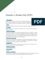Deposito Termino Fijo DTF