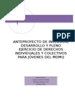 Proyecto de Desarrollo Individual y Colectivo Para Jóven Es Del Mdmq Revisado2