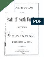 South Carolina Constitution 1895