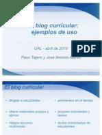El Blog Curricular Ejemplos de Uso