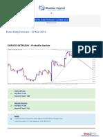 Forex Daily Forecast - 22 Mar 2016 BlueMax Capital