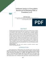 Settlement Analysis of Geosynthetic