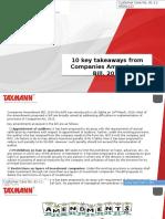 10 Key Takeaways From Companies Amendment Bill 2016