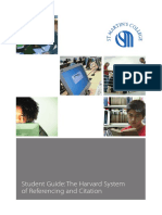 Harvard System of Referencing Citation Guide