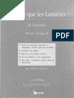 Foucault Qu'Est-ce Que Les Lumières