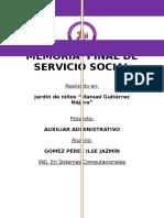 Ejemplo de Memoria de Servicio Social