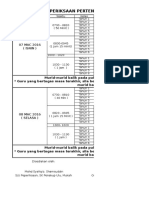 Jadual Ujian Pertengahan Penggal 1 2016
