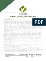 Fertilizer Handling Code of Practice