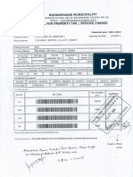 Property Tax Receipt