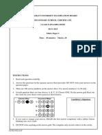 Ethics SSC II Paper I