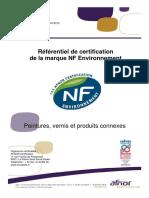 NF Environnement Peintures, Vernis Et Produits Connexes