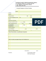 Formulir Permintaan in House Training
