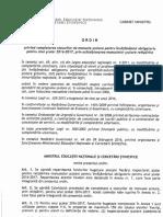 Ordin privind completarea stocurilor de manuale școlare pentru învățământul obligatoriu pentru anul școlar 216 - 2017, prin achiziționarea manualelor școlare retipărite