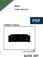 EV Electro-Voice 7300 Amplifier Manual