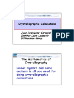 Mathematics for Crystallography 2