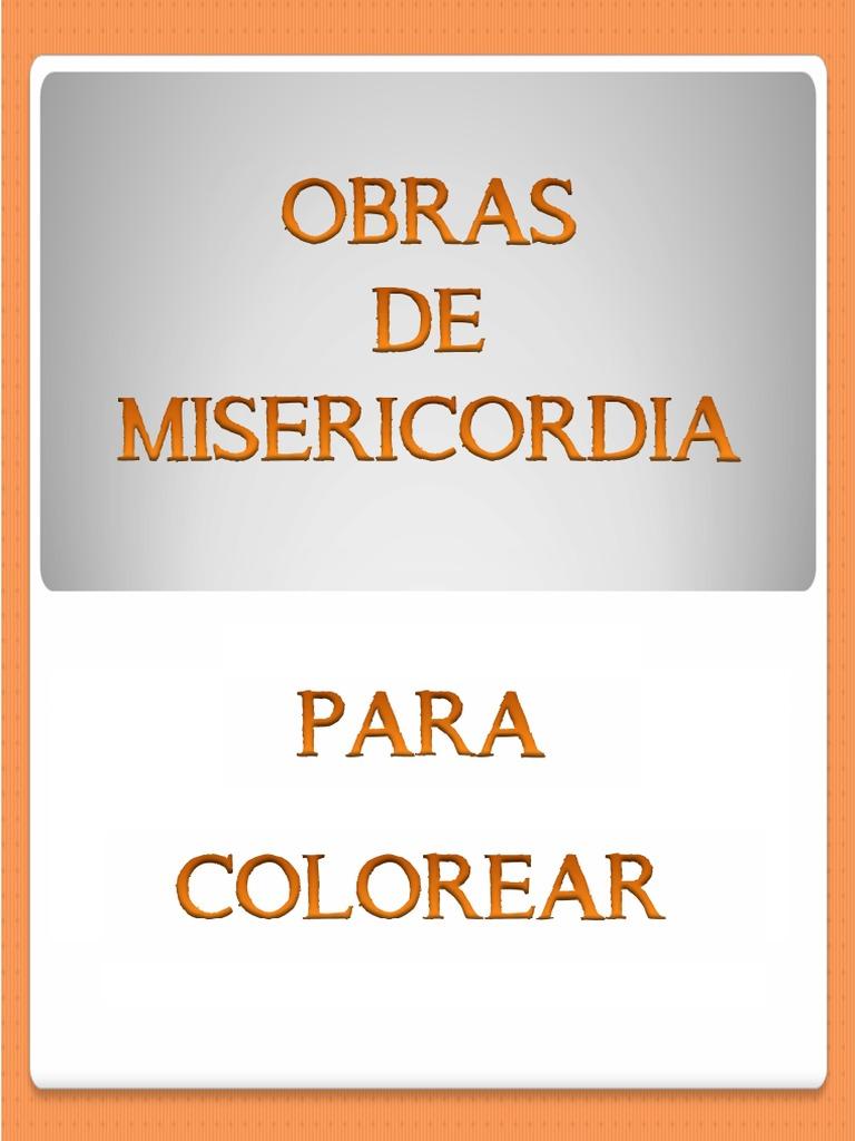 Obras de Misericordia para colorear